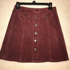 Mossimo rusty red corduroy mini skirt